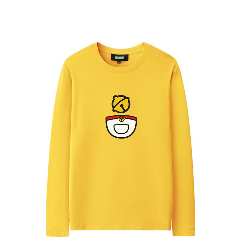 Doraemon Long Sleeve Shirts Cool Couple Shirts