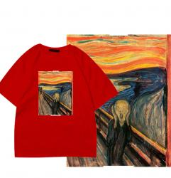 Edvard Munch The Scream T-Shirt Famous Painting Couple In One Shirt