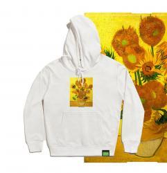 Van Gogh Sunflowers Boys Sweatshirts Famous Painting Hooded Coat