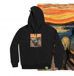 Famous Painting The Scream Hoodie Funny Boys Hooded Shirt