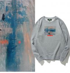 Impression Sunrise Hoodies Youth Famous Painting Hooded Jacket