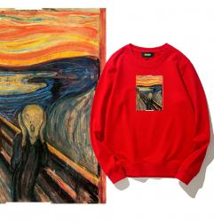 Edvard Munch The Scream Sweatshirt For Kids Boys Famous Painting Hoodie