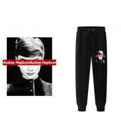 Audrey Hepburn Head Portrait Pants Sports Trousers