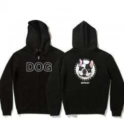 Bulldog Jacket Double-sided printing Lovely Boys Zip Up Fleece