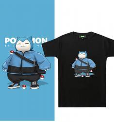 Pokemon Snorlax Tshirts Original Design Couple Printed Shirts