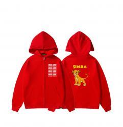 Disney The Lion King Simba Hoodie Zip Up Hoodies For Teenage Girl