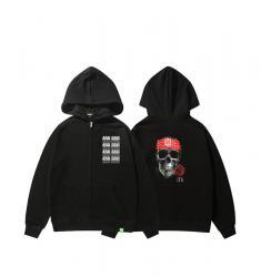 Music Skull Coat Kids Zip Up Hoodie