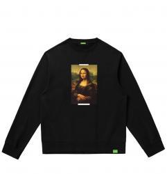 Famous Painting Leonardo Da Vinci Mona Lisa Hoodies Boys Hooded Sweatshirt