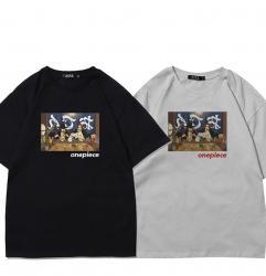 One Piece Anime Shirts Shanks and Dracule Mihawk Boys T Shirt