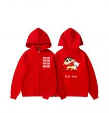 Crayon Shin-chan Hooded Jacket Cute Sweatshirts For Girls